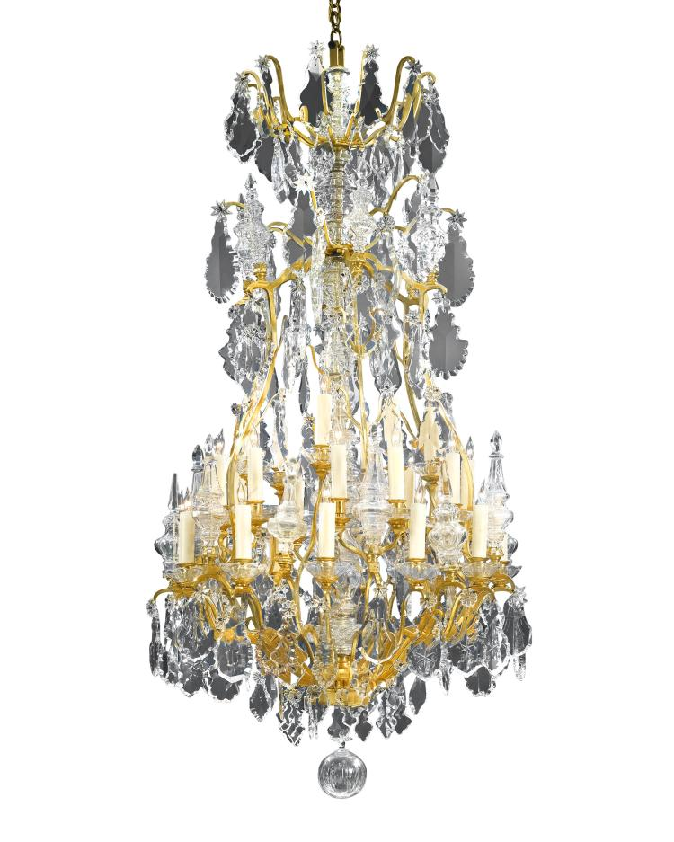 Thirty Light Baccarat Crystal Chandelier