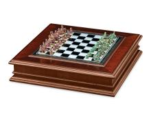 Indian Emerald and Ruby Chess Set