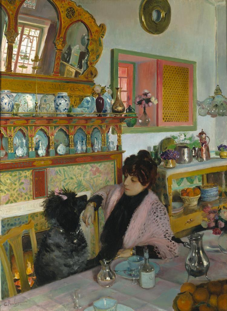 Marie rochegrosse dans la salle manger by georges rochegro for Helene darroze la salle a manger