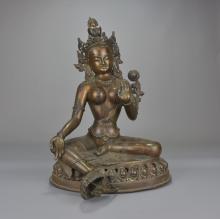 A large bronze Bogashakti statue