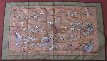 Early 20 century  Chinese embroideries with one hundred cranes