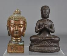 JAPANESE SEATED BUDDHA