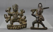 TWO SOUTH-EAST ASIAN BRONZE FIGURES