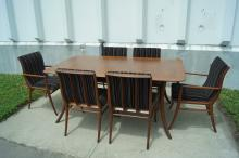 T.H. Robsjohn-Gibbings for Widdicomb, Dining Table and Chairs