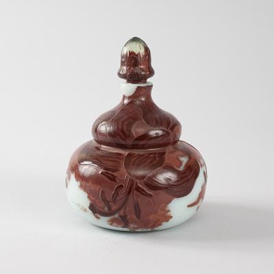 Gallé Cameo Glass Bottle
