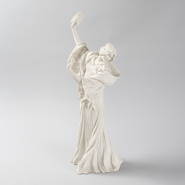 French Art Nouveau Bisque Ceramic Sculpture titled