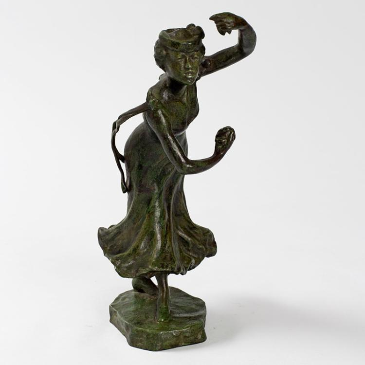 Bronze Figural Castanets Dancer by Carabin