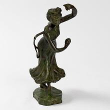 Bronze Figural Castanets Dancer by Carabin