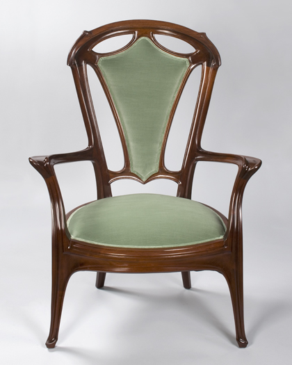 French Art Nouveau Armchair by Gruber