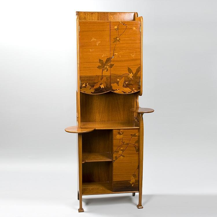 French Art Nouveau Cabinet by Majorelle