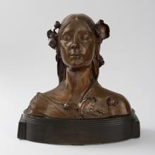 Austrian Art Nouveau Bust of Ophelia by Josef Öfner