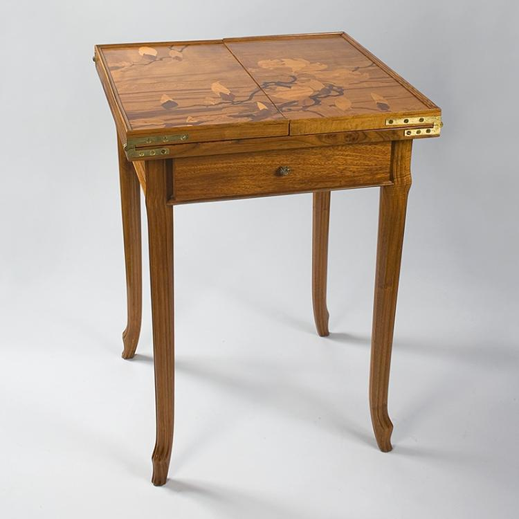 French Art Nouveau Games Table by Gallé