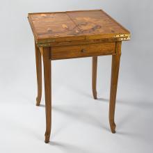 French Art Nouveau Games Table by Gallé