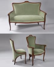 French Art Nouveau Salon Suite by Colonna