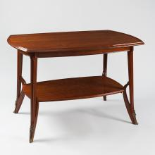 French Art Nouveau Wooden Table by Louis Majorelle