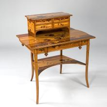 French Art Nouveau Desk by Gallé