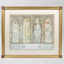French Art Nouveau Lithograph