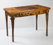 French Art Nouveau Games Table by Louis Majorelle