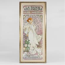French Art Nouveau Lithograph,