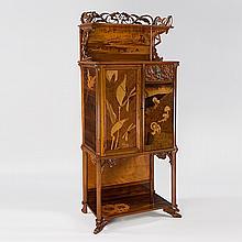 French Art Nouveau Cabinet by Emile Gallé