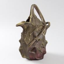 French Art Nouveau Ceramic Gourd Vase by Majorelle