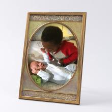 Tiffany Furnances  Bronze and Iridescent  Enamel Picture Frame