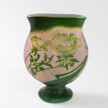 French 'Grande berce des prés' Cameo Glass Vase by Daum