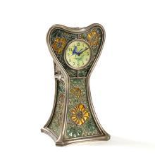 French Art Nouveau silver and plique-à-jour