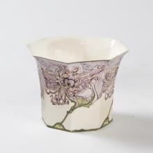 Dutch eggshell porcelain vase by Rozenburg