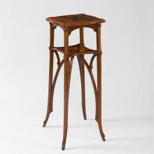 A French Art Nouveau Wooden Pedestal by Emile Gallé