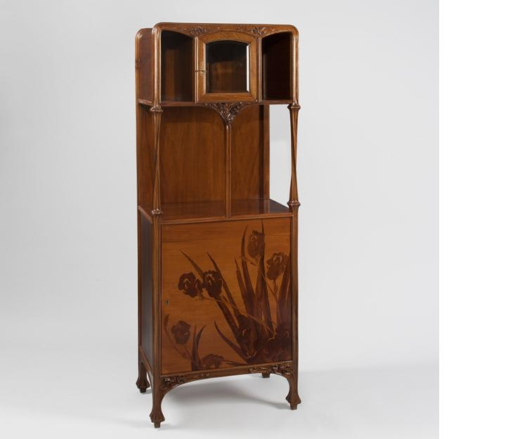 French Art Nouveau Marquetry Cabinet by Louis Majorelle