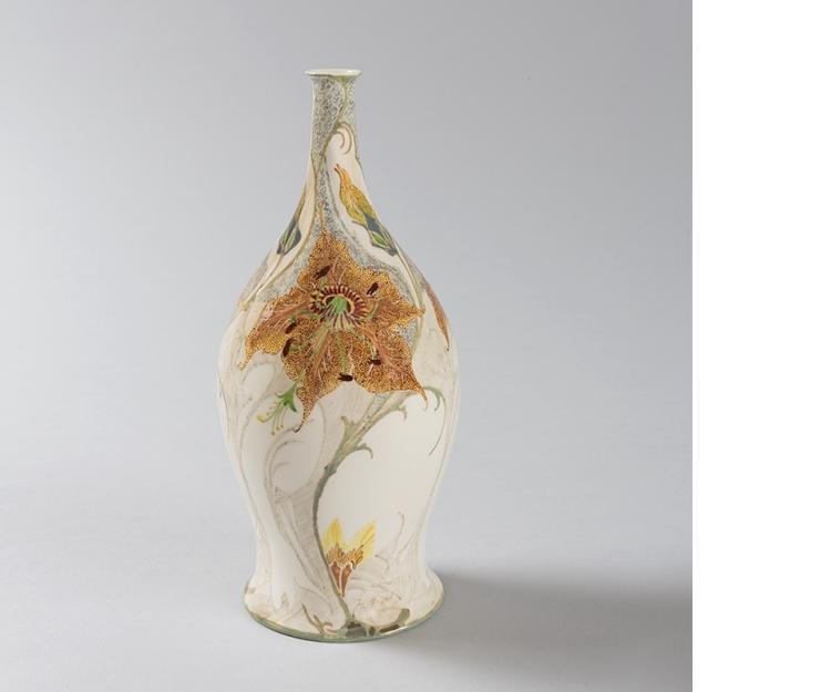 Dutch Porcelain Vase by Rozenburg