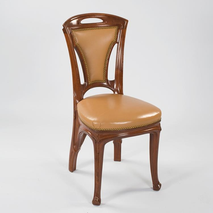 French Art Nouveau Side Chairs by Vallin