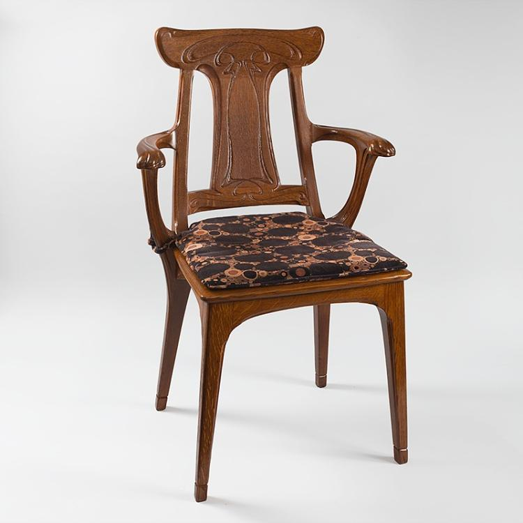 French Art Nouveau Armchair by Eugène Gaillard