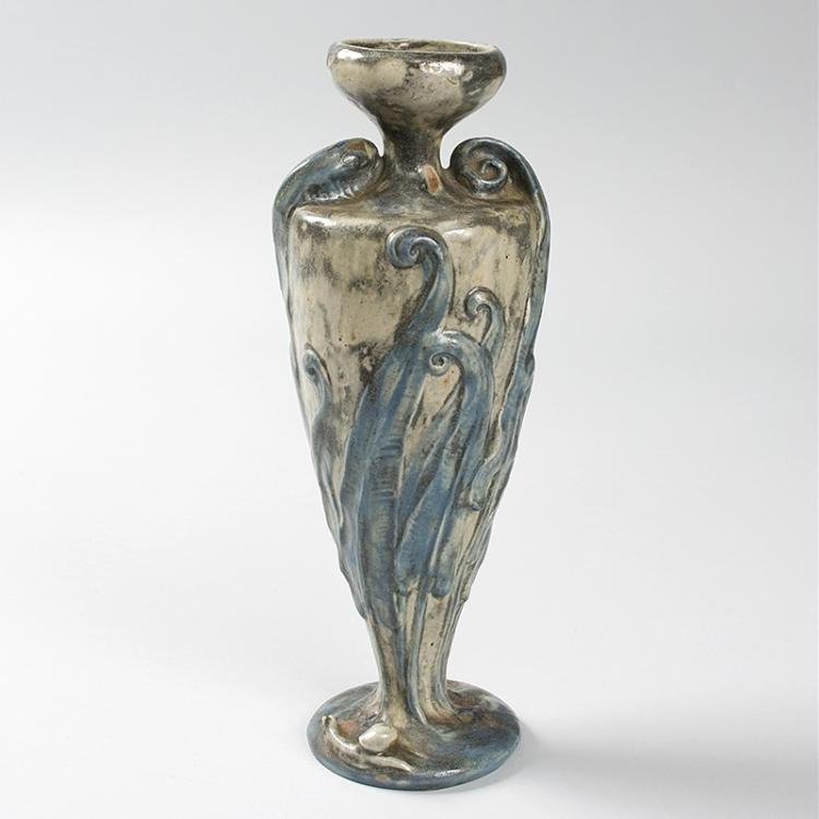 French Art Nouveau Ceramic Urn by Majorelle & Mougin