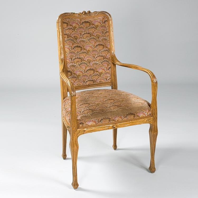French Art Nouveau Armchair by Majorelle