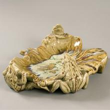 French Art Nouveau Ceramic Tray by Lachenal
