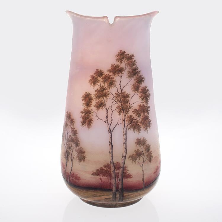 French Art Nouveau Vase by Daum