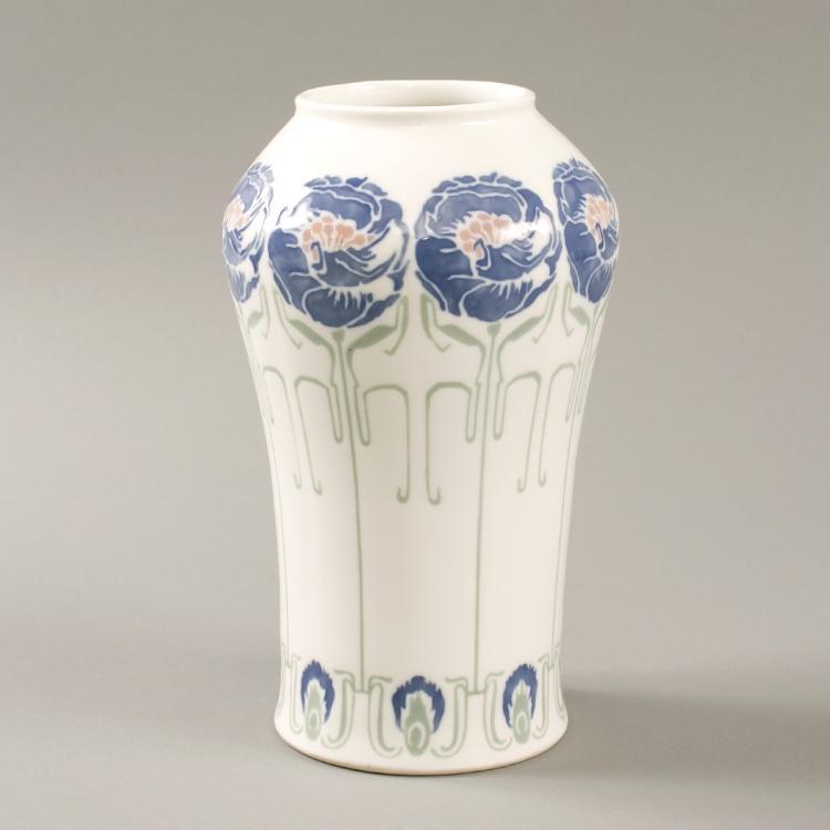 French Art Nouveau Ceramic Vase by de Feure