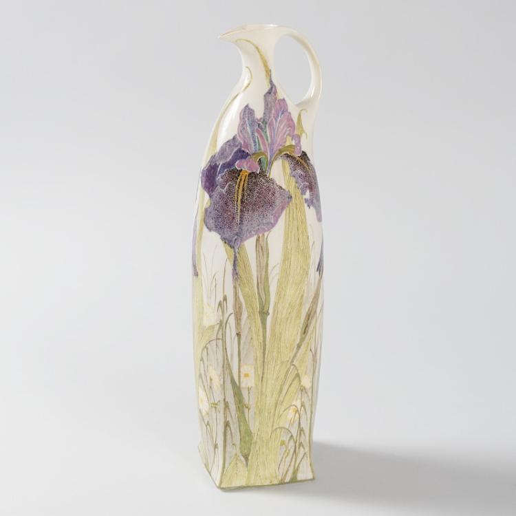 Dutch Art Nouveau Eggshell Pitcher by Rozenburg