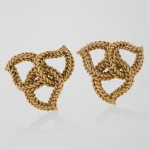 Pair of Sterlé Paris Gold Brooches