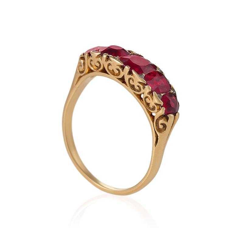Antique English Ruby and Gold Ring