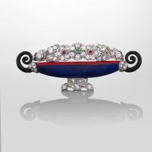 Kohn Art Deco Jardiniere Jeweled Brooch