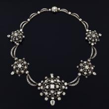 Antique Silver-Topped Diamond Necklace