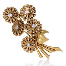 Van Cleef & Arpels Paris Retro Diamond and Gold
