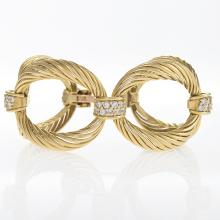 Boucheron Paris Diamond and Gold Link Bracelet