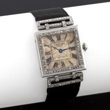 Cartier Art Deco Diamond and Platinum 'Tank' Watch