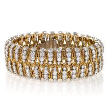 Mid-20th Century Diamond, Platinum and Gold Bracelet