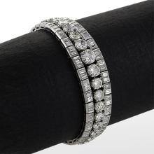 Mid-20th Century Diamond and Platinum Bracelet