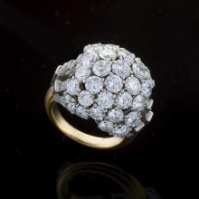 Boucheron Diamond, Platinum and Gold Bombè Ring